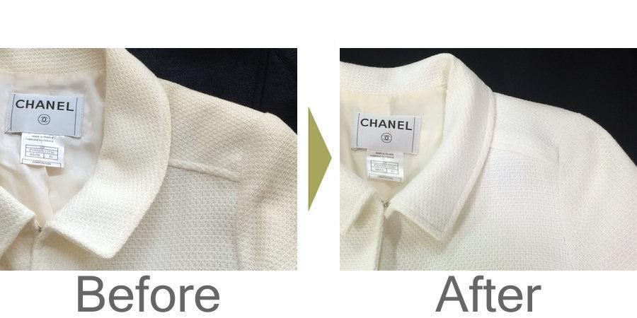 お気軽にお問い合わせください!,シャネル(CHANEL)のジャケット 黄ばみ修正