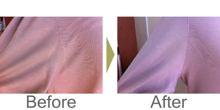 お気軽にお問い合わせください!,セーターの脇の脱色の色修正