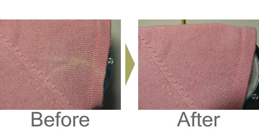お気軽にお問い合わせください!,セーター 脇汗による脱色修正