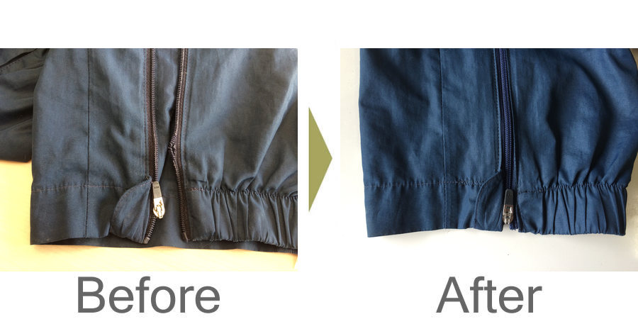 お気軽にお問い合わせください!,ジャージ トレーニングウェア 裾ファスナー 修理
